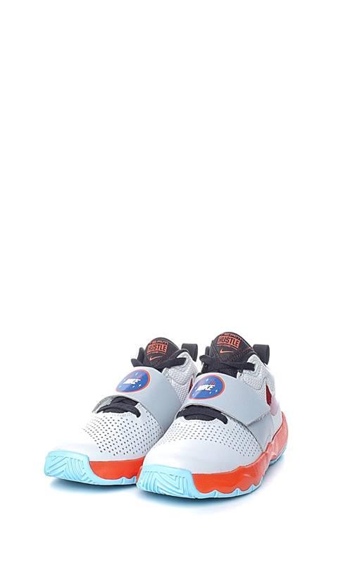 0454927900a NIKE- Παιδικά παπούτσια μπάσκετ Nike Team Hustle D 8(GS) ασημί ...