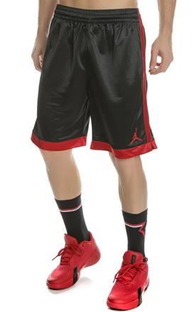 a9c7b50c8644 NIKE. Ανδρικό σορτς μπάσκετ JUMPMAN SHIMMER NIKE μαύρο-κόκκινο