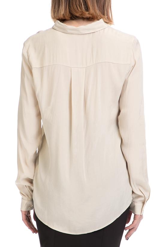 AMERICAN VINTAGE-Γυναικείο πουκάμισο AMERICAN VINTAGE εκρού