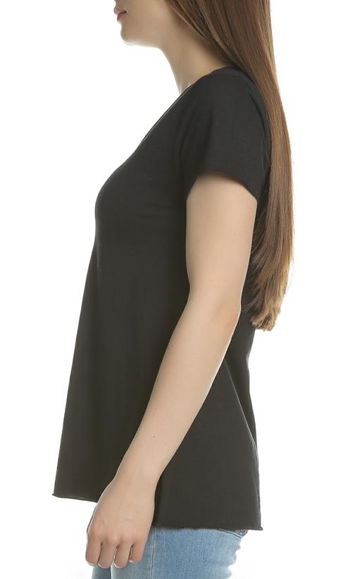 AMERICAN VINTAGE-Γυναικεία κοντομάνικη μπλούζα JAC51E18 μαύρη