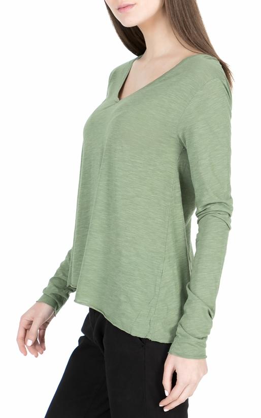 AMERICAN VINTAGE-Γυναικεία μακρυμάνικη μπλούζα JAC52E18 πράσινη