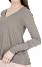 AMERICAN VINTAGE-Γυναικεία μακρυμάνικη μπλούζα JAC52E18 μπεζ