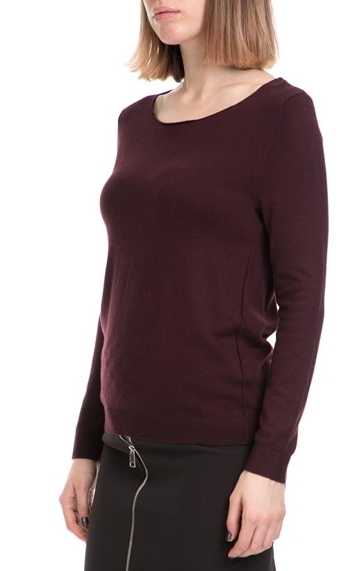 AMERICAN VINTAGE-Γυναικείο πουλόβερ AMERICAN VINTAGE μπορντό