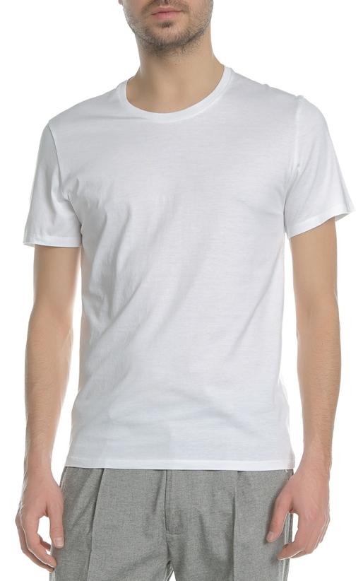 AMERICAN VINTAGE-Ανδρική κοντομάνικη μπλούζα MDEN0E18 American Vintage λευκή