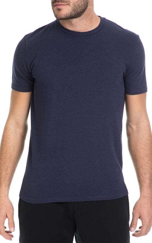 AMERICAN VINTAGE-Ανδρική κοντομάνικη μπλούζα American Vintage μπλε