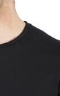 AMERICAN VINTAGE-Ανδρική κοντομάνικη μπλούζα  MLAMA6E18 American Vintage μαύρη
