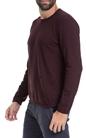 AMERICAN VINTAGE-Ανδρική μπλούζα AMERICAN VINTAGE μπορντό