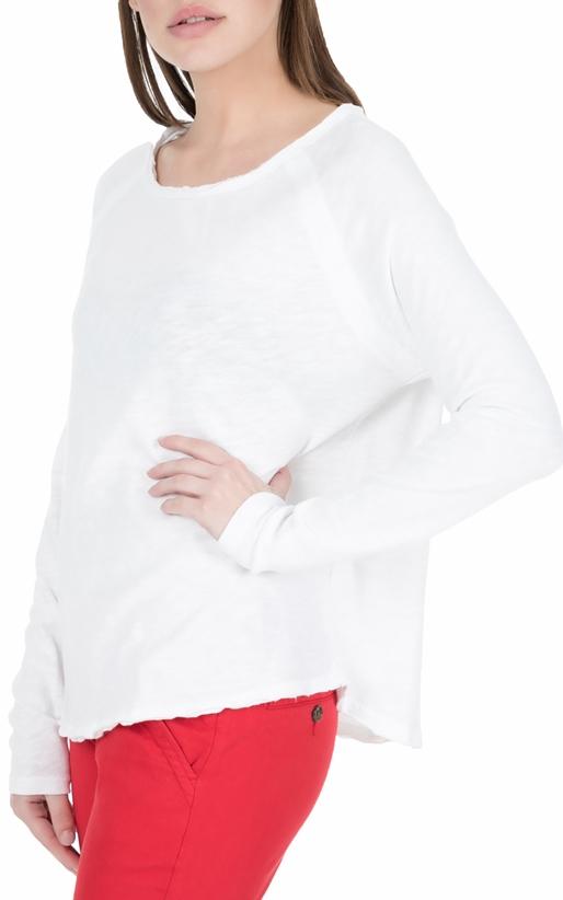 AMERICAN VINTAGE-Γυναικεία μακρυμάνικη μπλούζα SON31E18 λευκή