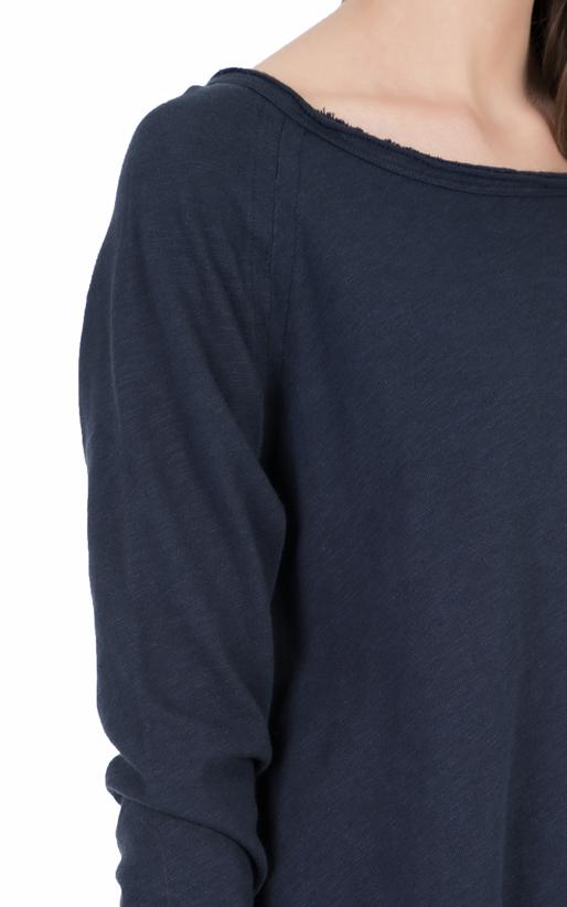 AMERICAN VINTAGE-Γυναικεία μακρυμάνικη μπλούζα SON31E18 μπλε