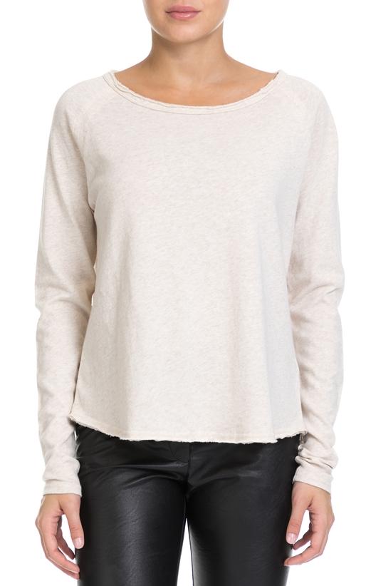 AMERICAN VINTAGE-Γυναικεία μπλούζα AMERICAN VINTAGE εκρού