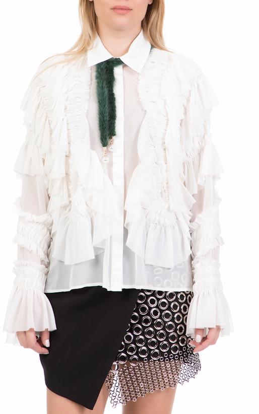 Γυναικείο μακρυμάνικο πουκάμισο AMUSE λευκό (1717533)  4844d3a5d8d