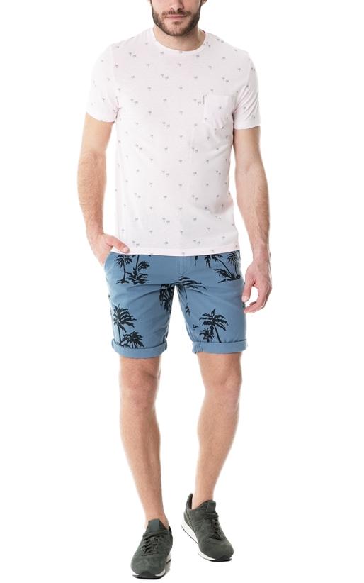 BEN SHERMAN-Ανδρική κοντομάνικη μπλούζα Ben Sherman PALM TREE PRINT