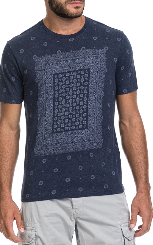 BEN SHERMAN-Ανδρική μπλούζα BANDANA PRINT BE SHERMAN μπλε