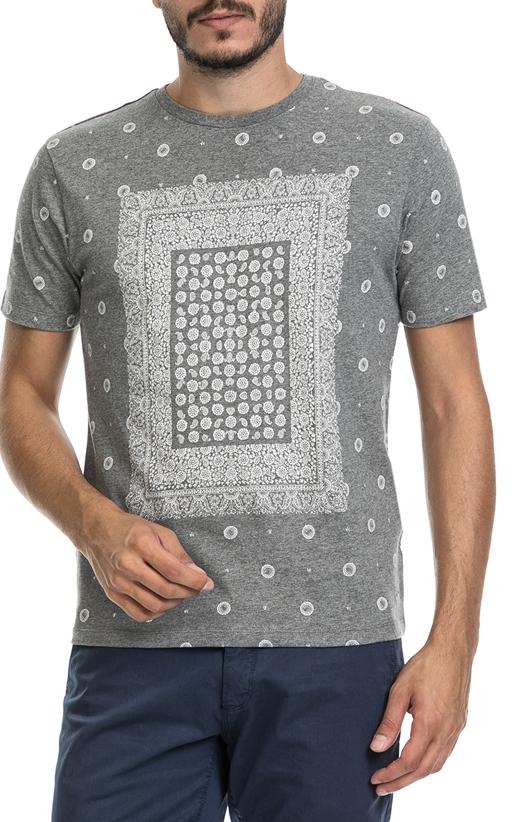 BEN SHERMAN-Ανδρική μπλούζα BANDANA PRINT BE SHERMAN γκρι