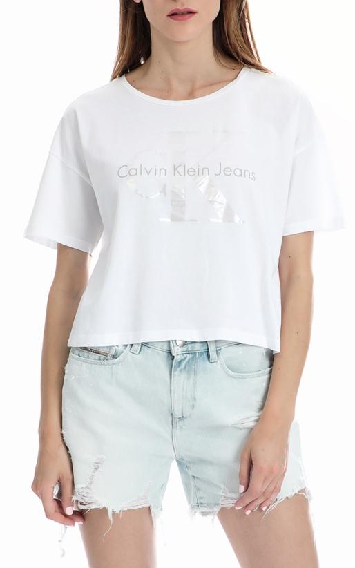 CALVIN KLEIN JEANS-Γυναικεία μπλούζα Calvin Klein Jeans λευκή 6c91e5d2b15