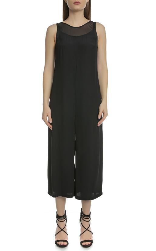CALVIN KLEIN JEANS-Γυναικεία ολόσωμη φόρμα DARVA MESH μαύρη