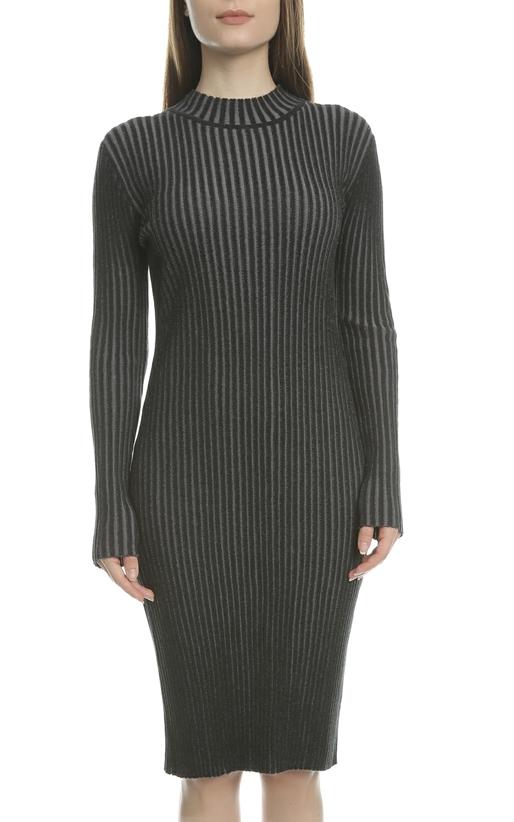 CALVIN KLEIN JEANS-Γυναικείο φόρεμα SUTTON CALVIN KLEIN JEANS μαύρο 5cbf5b3ad9b