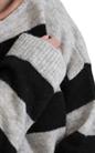 CALVIN KLEIN JEANS-Γυναικείο πουλόβερ SURI CALVIN KLEIN JEANS μαύρο-γκρι