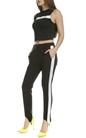 CALVIN KLEIN JEANS-Γυναικεία αμάνικη crop μπλούζα Calvin Klein Jeans μαύρη
