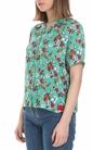 CALVIN KLEIN JEANS-Γυναικείο φλοράλ πουκάμισο Calvin Klein Jeans πράσινο