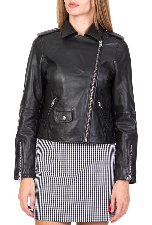 9996a352235 Γυναικείο δερμάτινο τζάκετ Calvin Klein Jeans μαύρο
