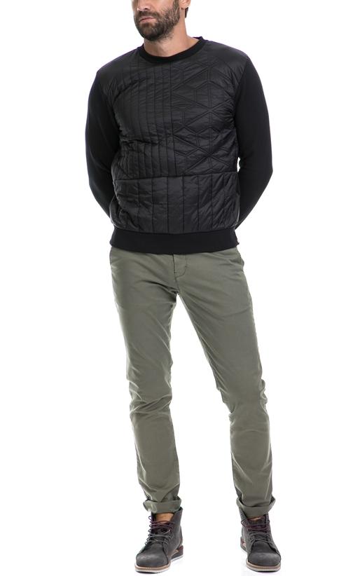 CALVIN KLEIN JEANS-Ανδρική μπλούζα HUSI CALVIN KLEIN JEANS μαύρη
