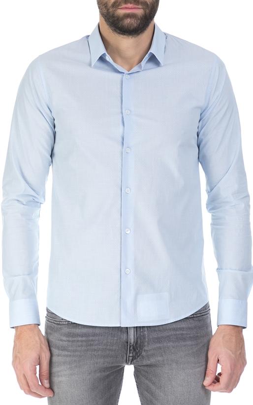 CALVIN KLEIN JEANS-Ανδρικό πουκάμισο Calvin Klein Jeans γαλάζιο