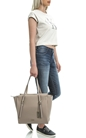 CALVIN KLEIN JEANS-Γυναικεία τσάντα Calvin Klein Jeans μπεζ