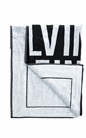 CK UNDERWEAR-Πετσέτα θαλάσσης CK UNDERWEAR μαύρη-λευκή