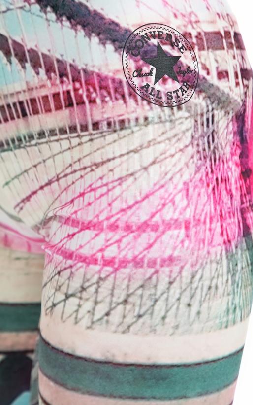 CONVERSE-Γυναικείο κολάν Converse πολύχρωμο