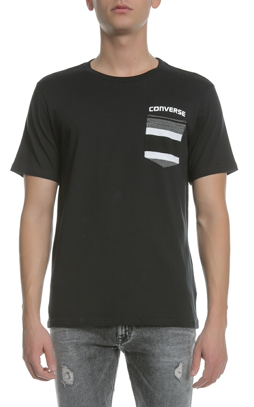 CONVERSE-Ανδρικό T-shirt CONVERSE μαύρο