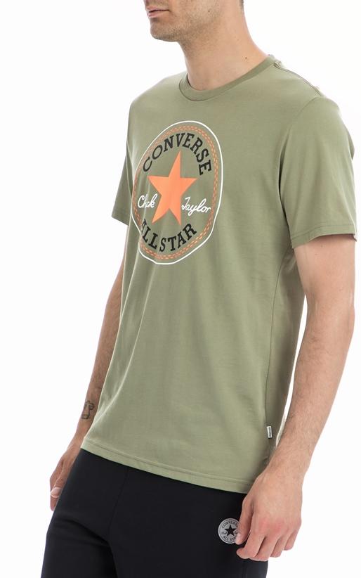 CONVERSE-Ανδρική μπλούζα Converse χακί
