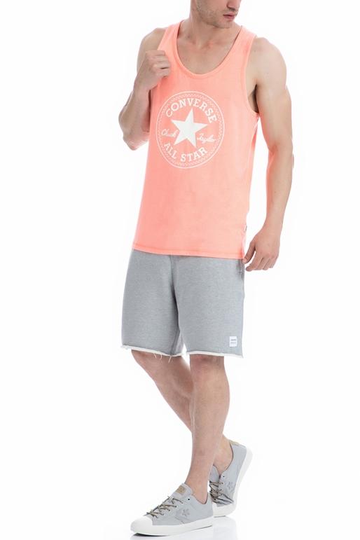CONVERSE-Ανδρική μπλούζα Converse σομών-πορτοκαλί