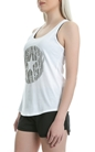 CONVERSE-Γυναικεία μπλούζα Zebra Fill CP Classic Tank λευκή
