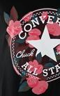 CONVERSE-Γυναικείο T-shirt Converse floral μαύρο