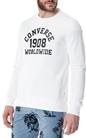 CONVERSE-Ανδρική φούτερ μπλούζα CONVERSE λευκή