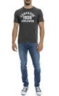 CONVERSE-Ανδρική μπλούζα CONVERSE γκρι