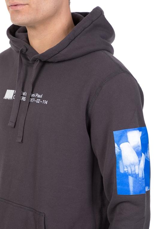 CONVERSE-Ανδρική φούτερ μπλούζα CONVERSE ανθρακί