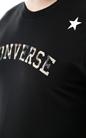 CONVERSE-Ανδρική κοντομάνικη μπλούζα Camo Star μαύρη