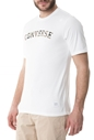 CONVERSE-Ανδρική κοντομάνικη μπλούζα Camo Star λευκή