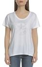 CONVERSE-Γυναικεία κοντομάνικη μπλούζα Converse λευκή