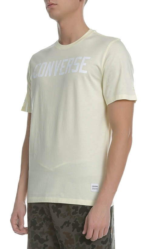 CONVERSE-Ανδρική κοντομάνικη μπλούζα CONVERSE κίτρινη