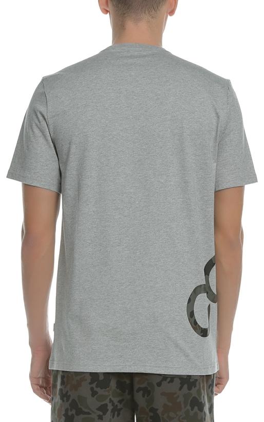 CONVERSE-Ανδρική κοντομάνικη μπλούζα CONVERSE γκρι