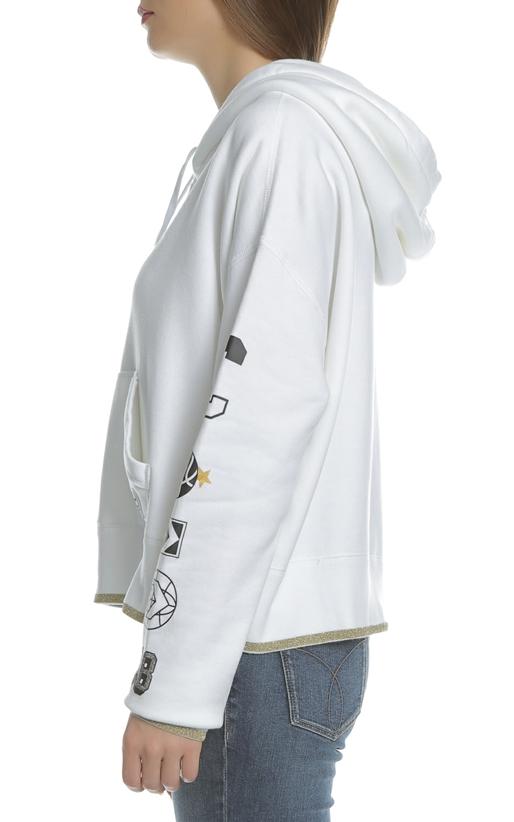 CONVERSE-Γυναικεία μακρυμάνικη φούτερ μπλούζα Converse λευκή