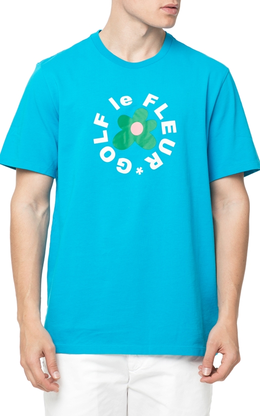 CONVERSE-Ανδρικό t-shirt Converse QS TTC TEE HAWAIIAN OCEAN μπλε