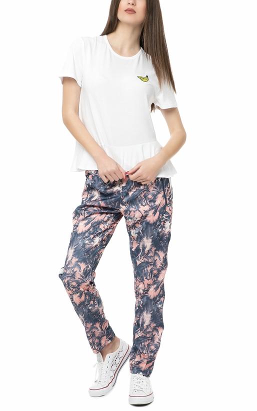 CONVERSE-Γυναικείο παντελόνι φόρμας Converse STAR CHEVRON FEATHER εμπριμέ