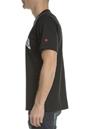 CONVERSE-Ανδρική κοντομάνικη μπλούζα Converse Collegiate Text μαύρη