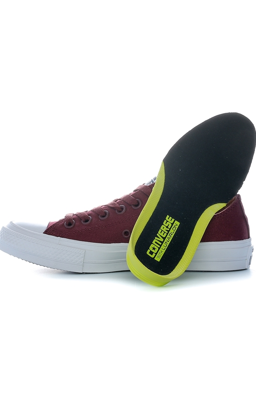 CONVERSE-Unisex παπούτσια Chuck Taylor All Star II Ox μπορντώ
