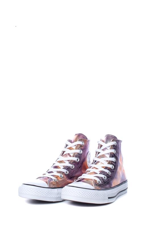 CONVERSE-Γυναικεία αθλητικά μποτάκια Chuck Taylor All Star Hi ροζ-πορτοκαλί