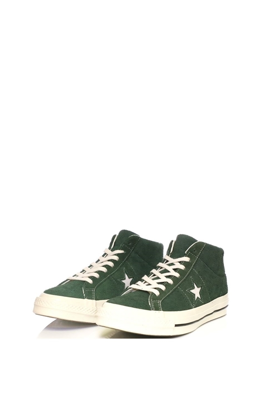 CONVERSE-Ανδρικά μποτάκια Converse One Star '74 Mid Vintage Suede πράσινα